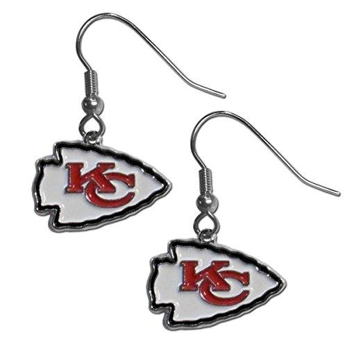 NFL Siskiyou Sports Womens Kansas City Chiefs Chrome Dangle Earrings One Size Team Colors