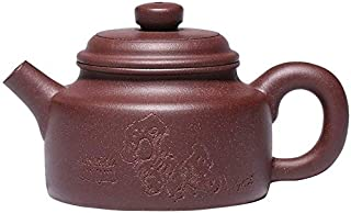 Traditional Chinese craftsmanship Raw ore in The Trough Green Authentic Pure Handmade Sand teapot De Bell teapot Household...