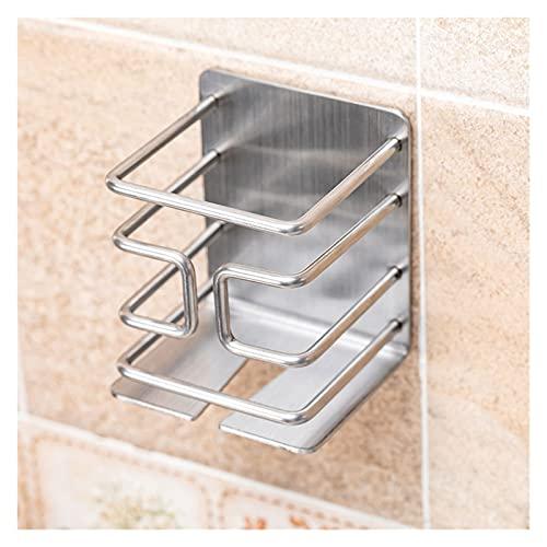 Estante de baño PUNZAJE GRATUITA GRATIS SHAVER SHAVER CESTUCHA Cesta de la barra de la bandeja Montado en la pared Metal Rack eléctrico Razor Estante de malla Accesorios de baño ( Color : Silver )