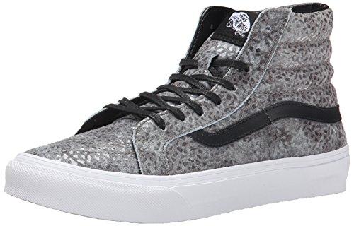 Vans U Sk8-Hi Slim, Zapatillas Hombre^Mujer, Pebble Snake/Gray/Black, 40 EU