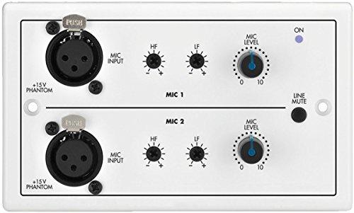 Manacor wandmodule voor router Audio Matrix, met 2 microfoons en 2 x 3 XLR-aansluitingen, afstandsbediening