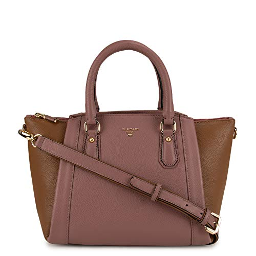 Da Milano Genuine Leather Pink & brown Ladies Handbag