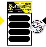Yellow Bearkit de 4 Stickers rétro réfléchissants 3M Scotchlite Material, Noir,...