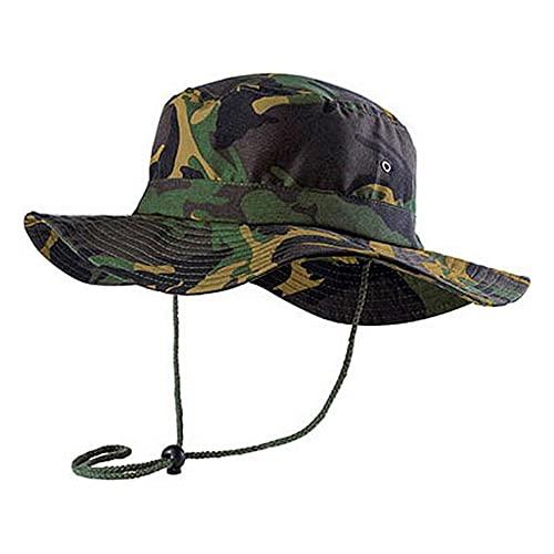Sombrero Pescador Militar – Gorro Camuflaje Hombre – Gorra Mujer Pesca – Protección Solar Cara – Explorador Golf Ejercito Caza Senderismo