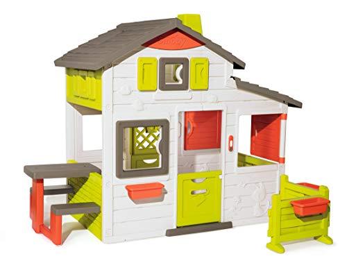 Smoby 810203 - Neo Friends Haus - Spielhaus für Kinder für drinnen und draußen, erweiterbar durch Zubehör, Gartenhaus für Jungen und Mädchen ab 3 Jahren