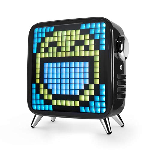 Divoom Timebox Smart Portable Bluetooth LED Speaker with APP-Controlled Pixel Art Animation, Notification and Build- in Clock/Alarm 4.3 x 4.5 x 2.2 inches Black