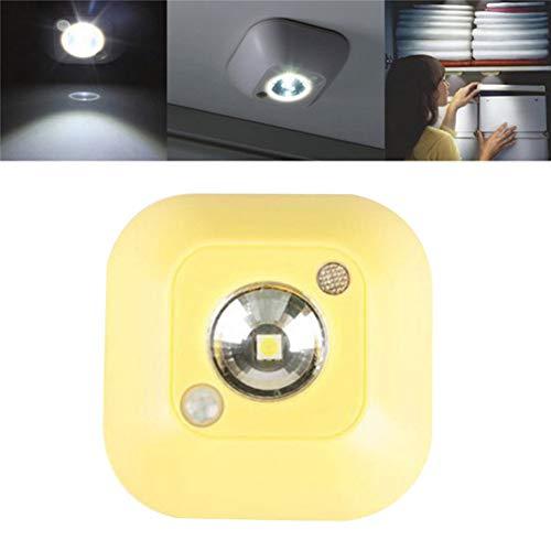 GKJRKGVF nachtlampje, led, draadloos, infrarood, PIR-beweging, nachtlampje, wandlamp, noodkastje, nachtlampje