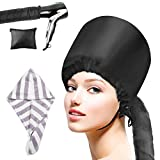 Bestcool Hair Dryer Hood Attachment, Hand Free Bonnet Dryer Attachment with Soft Microfiber Hair Towel for Drying Styling Curling Deep Conditioning for Women Girl Wet/Thick Hair