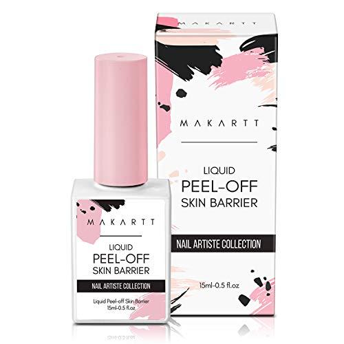 Makartt Liquid Peel Off Skin Barrier Peel off Cuticle Guard for Nail Art Liquid Latex Barrier Protector 15ml White