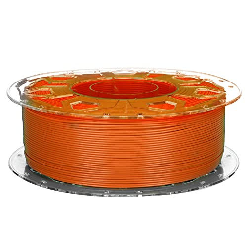 3D Printer PLA Filament, Low Shrinkage High Toughness 1.75mm Printing Supplies Accessories Compatible with All 3D Printers(Orange)