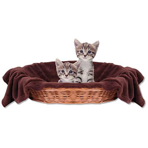 Bestlivings Haustierdecke Katzendecke Kuscheldecke Tierdecke, angenehm und super weich in vielen erhältlich (70x100 cm/braun - Dunkelbraun)