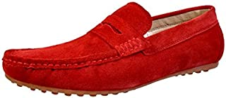HiREL'S Men Red Loafers