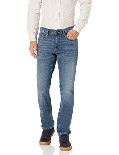 Amazon Essentials - Pantalones vaqueros elásticos de corte atlético para hombre, Medium Vintage, 36W x 32L