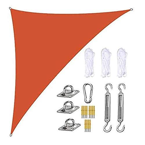 'N/A' Sun Sail Shade, Rechtwinklig Schatten Segel Mit Hochleistungs-Fixier-Kit, 3 Seile, Wasserdichter UV-Schutzgarten-Segel-Baldachin, Atmungsaktive...