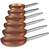 San Ignacio Professional Chef Copper Plus Set 6 Sartenes +, Aluminio Prensado, Multicolor