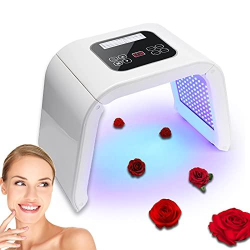 Lampara de Belleza LED, 4 Colores Led Lampara Aparato Cabina de Máquina de Belleza PDT para Cuidado Facial, LED Lámpara Tonificadores Foton Rejuvenecimiento Piel y Eliminación del Acné y Arrugas