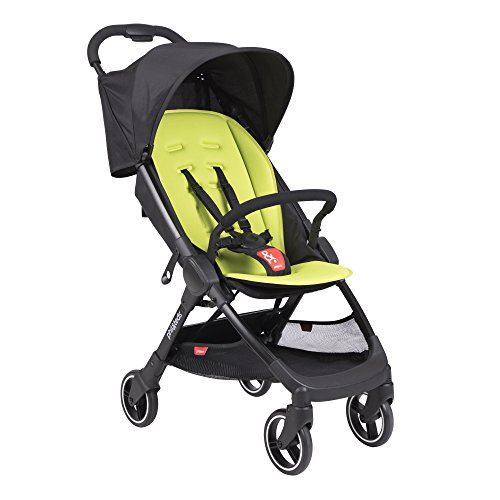 phil&teds Go Umbrella Travel Stroller, Apple – Ultra Light (11lbs) – Compact, One Hand Stand Fold – Removable Bumper Bar – Removable and Reversible Seat Liner – Travel System Ready – Full Suspension