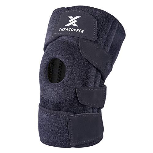 Thx4COPPER Offene Patellaseiten Kniestütze, Einstellbarer Stabilisatoren Kniebandage- für Meniskusverletzungen, Geschwollene ACL, Sehnenentzündung, Arthritis, Gelenkschmerzlinderung mit Knieorthese