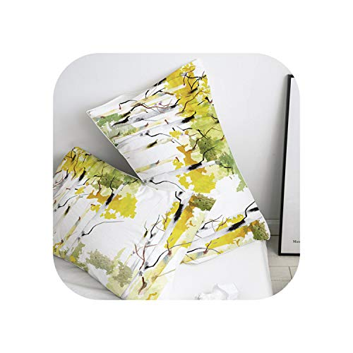 my cat Pillow Case Pillowcase 50x70/50x75/50x80/70x70 Decorative Pillow Cover, flowers Bedding-Flower -12-51x66cm(20x26in) x2