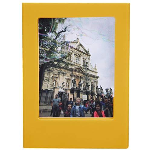 Topiky Marco de Fotos de refrigerador magnético, Mini Color Brillante Elegante, Marco de Imagen de imán de Nevera DIY, para Polaroid Mini 3 Pulgadas de Fotos, Maravilloso Regalo (Amarillo)