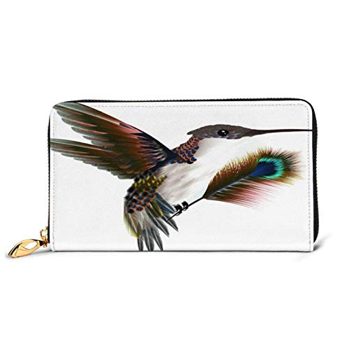 Mode Handtasche Reißverschluss Brieftasche Kolibri Saugen Nektar Mini Vogel Leder Brieftasche Clutch Große Telefonkarte Halter für Frauen Damen