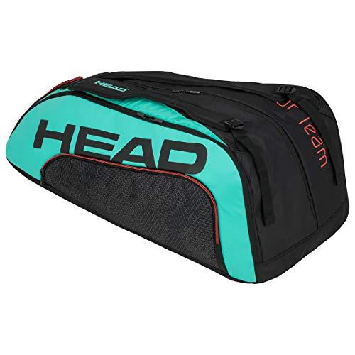 HEAD Unisex-Erwachsene Tour Team 12R Monstercombi Tennistasche, schwarz/türkis