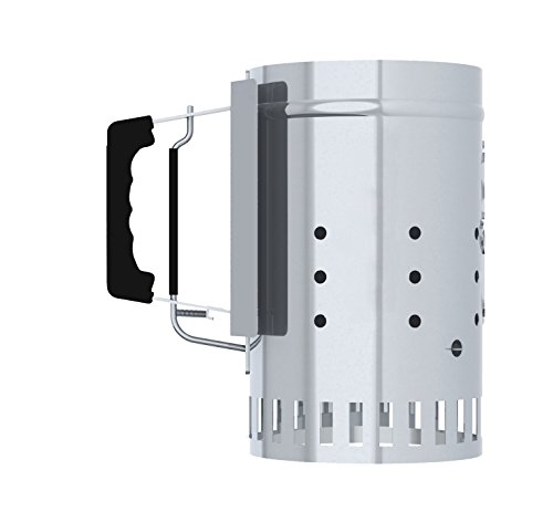 CharGriller Charcoal Grill Chimney Starter with Quick Release Trigger 12Inch