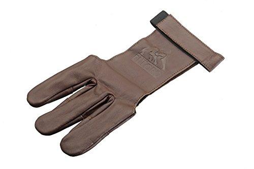 elTORO Traditioneller Schießhandschuh Tradition (Braun) Bogenschießen (L)