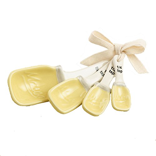 yellow ceramic jars - 8
