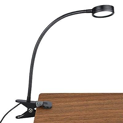 LEPOWER Clip on Reading Light/Clamp Light, Reading Light for Desk, Bed, Headboard