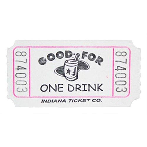 White Drink Ticket Roll