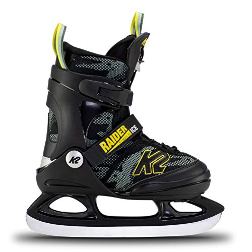 K2 Skates Jungen Schlittschuhe Raider Ice — Green - Yellow — EU: 35 - 40 (UK: 3 - 7 / US: 4 - 8) — 25E0010