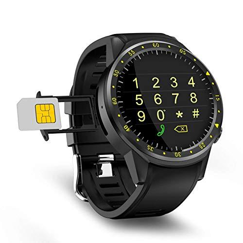 LLTG Reloj Inteligente para Hombres, Ritmo Cardíaco En Tiempo Real Sleep Monitoring Smart Phone Mobile Watch, Múltiplo Modo Deportivo GPS Posicionando Reloj Deportivo para Android iOS,D