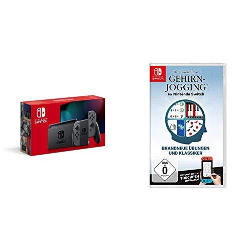 Nintendo Switch Konsole - Grau (2019 Edition) & Dr. Kawashimas Gehirn-Jogging - [Nintendo Switch]
