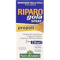Naturando Riparo Gola Spray Frasco de 25 ml - Complemento Alimenticio Útil para la Salud de la Garganta y de la Faringe