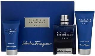 Salvatore Ferragamo Acqua Essenziale Blu for Men Eau de Toilette 100ml + 50ml Asb + 100ml Sg Set