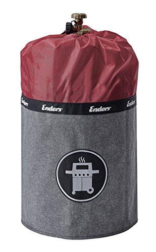 41IlDB hiFL - Enders Gasflaschenhülle Style Red 5116, Gasflasche Grill-Abdeckung 11 kg, Keine Rostränder durch Silikonfüße, feuerfest, UV-Schutz