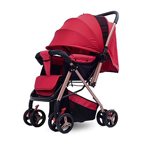 Kinderwagen, ultra compacte en lichte kinderwagen vanaf de geboorte, gemakkelijk op te vouwen, 0 maanden tot 3,5 jaar, met ligpositie en veilige vijfpunts gordel, voor baby's