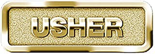 1 X Usher Badge, Brass