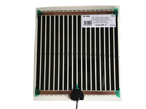Fenix 6651850 Spiegelheizung/Heizfolie MHF-12, verhindert das Beschlagen von Spiegeln, selbstklebende Beschichtung für eine schnelle und einfache Montage, niedrige Temperaturen, 274 x 252 mm