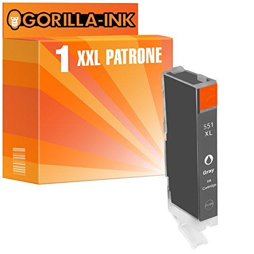 Gorilla-Ink 1 Patrone XXL kompatibel mit Canon CLI-551 XL Grey Pixma MG 6300 MG 6350 MG 6350 S
