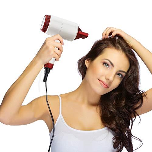 Haartrockner,Thermostat Fön mit Spiegel, Geräuscharm und Negative Ionisch, Hammerform, leicht und klein, Geschäftsreise, Reisen, Zuhause, verstellbar
