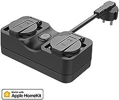 WiFi Zewnętrzne Gniazdo Zasilania Współpracuje z Apple HomeKit, meross Inteligentne Zewnętrzne Gniazdo Zasilania...
