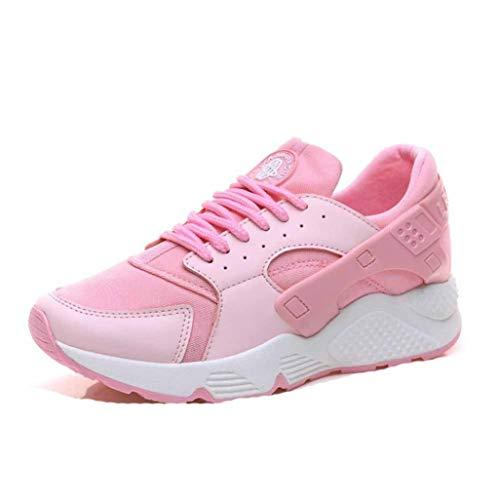 Plataforma para Mujer Zapatillas De Deporte Gruesas Cojín De Aire De Malla Zapatos Deportivos para Correr para Mujer Cuñas Casuales Zapatillas con Cordones para Caminar
