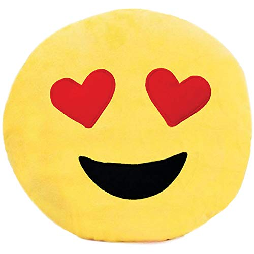 Almofada Pelúcia Emoticon Love Soft Toys 30cm