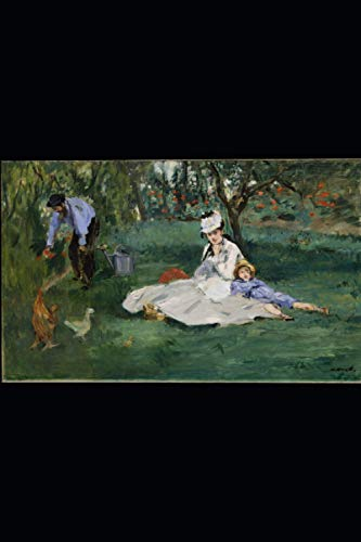 Edouard Manet - The Monet Family in Their Garden at Argenteuil Notebook