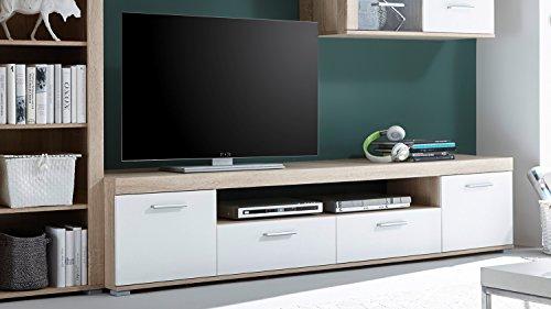 Wohnwand – Moderne Anbauwand in weiß kaufen  Bild 1*