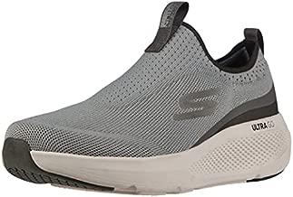 Skechers Men's GOrun Elevate-Athletic Slip-On Workout Running Shoe Sneaker with Cushioning, Grey/Black, 7.5