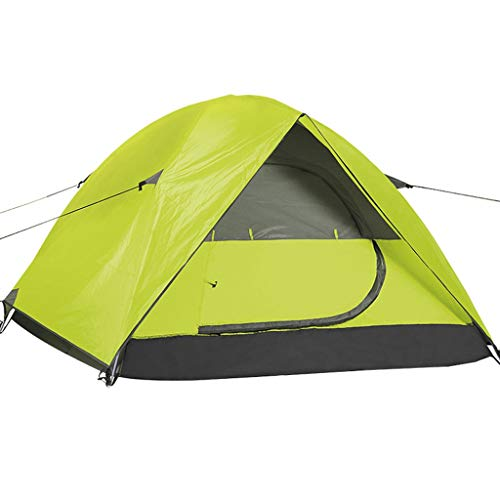 Camping Tents, Dome Tents | 3-4 Person Family Tent Thick Waterproof Portable | For Outdoor Camping Hiking Beach, 2 Colors (Color : Green)