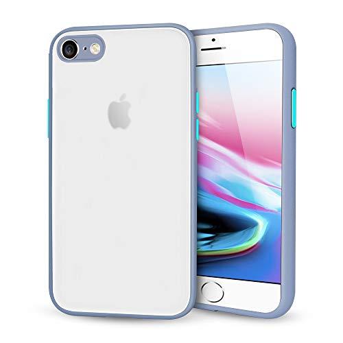 Suhctup Compatible con iPhone 6 Plus/6S Plus Funda de PC Rígida Back Mate Transparente Carcasa con TPU Silicona Bumper Ultrafina Antigolpes Anti-arañazos Protección Caso,Azul Claro 2